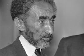 Haile Selassie in 1968, a bit private, not a photo we could show in public as Haile Selassie was the Emperor and did not want to be shown as a 'normal guy'.